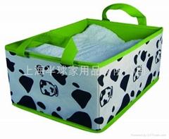 带手提的无纺布毛毯收纳盒