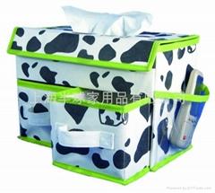 带纸巾盒的无纺布抽屉收纳盒