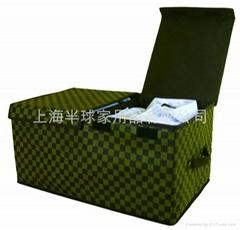 无纺布双盖折叠收纳箱储物箱