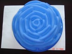 硅膠玫瑰花形蛋糕盆