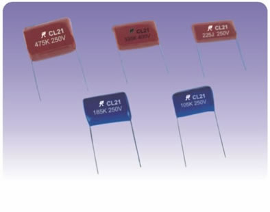Metallized Polyester Film Capacitors CL21 1
