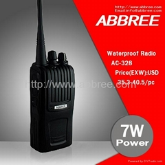 Waterproof and dustproof 7W power VOX function vhf/uhf handheld walkie talkie