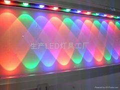 DMX512外控LED洗墙灯七彩色