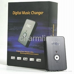 Car digital music changer for USB disk/SD card and AUX input