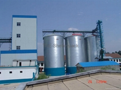steel silo with flat bottom