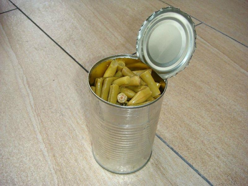 Canned green Beans cut in brine made by fresh material 5