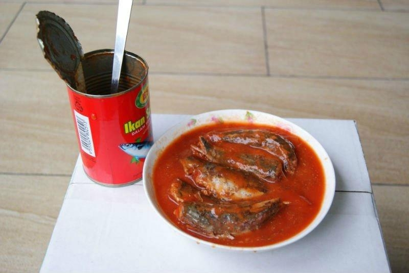 Canned sardine fish in tomato sauce 155g and 425g - Domee,Hosen,buyer ...