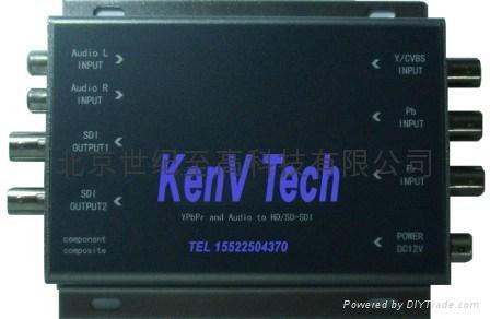 高清模拟色差分量视频YUV转HDSDI 1