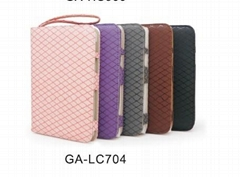 Colorful Lattice Leather Case for Samsung Galaxy Tab P1000 (GA-LC704)