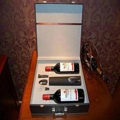 高檔電動紅酒酒箱4件套