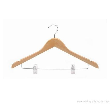 Wooden suit hanger 4