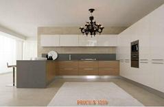 Kitchen Cabinet - White Lacquer & Laminate