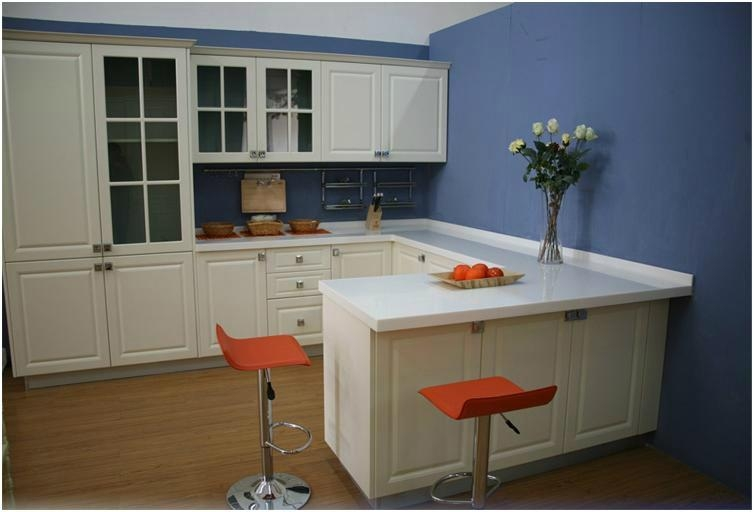 Kitchen Cabinet White Lacquer Melamine DTC KPM 204 KAPON China