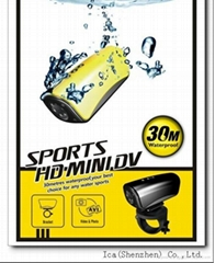 30M Waterproof Camera suitable for Sports on Helmet, Bicycle & Car, 3-Color
