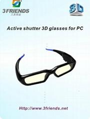 Activ shutter 3d glasses for PC &Projector