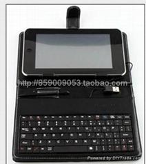 7寸USB鍵盤皮套適合MID平板電腦EPAD
