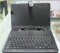 10寸USB平板电脑键盘皮套皮套键盘 1
