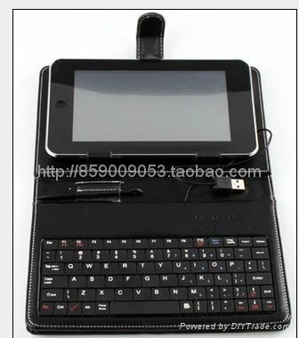 10寸USB平板电脑键盘皮套皮套键盘 2