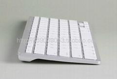 IPAD白色苹果无线蓝牙键盘78键干电池续航