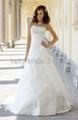 modern embroidered wedding gown wedding