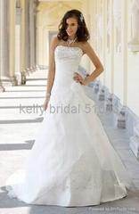 modern embroidered wedding gown wedding dress 51043