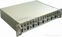 2U Snmp、Web、Console管理型光纤收发器机架