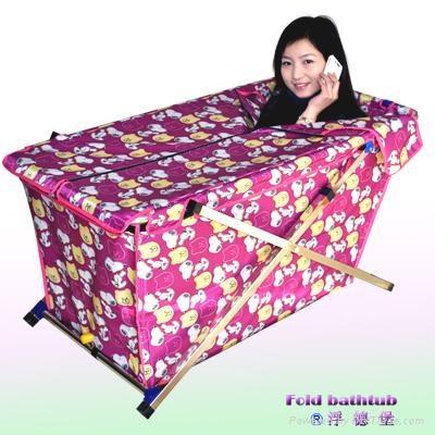 Folding portable bath bucket  1
