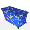 Portable folding baby bath tub with