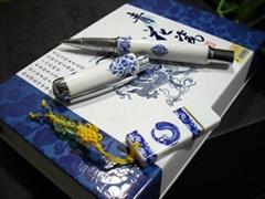 青花瓷笔U盘两件套装