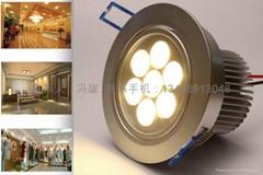 7W大功率LED天花燈節能燈