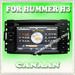 Double din in dash 7inch dvd for car hummer H3