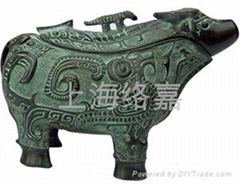 bronze Cattle-shaped Gong