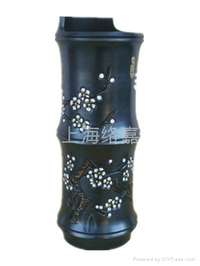 Shadow carving black pottery crafts 3