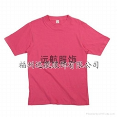 供应180克21支全棉精梳平纹文化衫