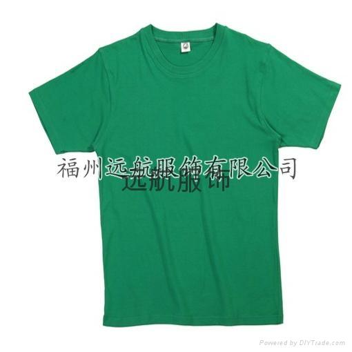 供應160克26支全棉精梳平紋短袖文化衫 1