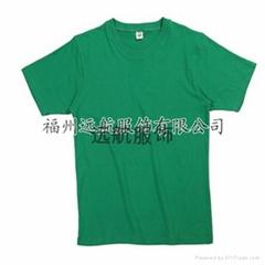 供应160克26支全棉精梳平纹短袖文化衫