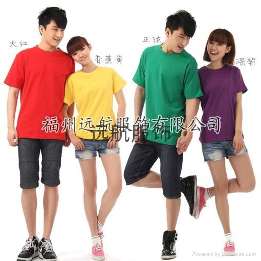 供應160克26支全棉精梳平紋短袖文化衫 3