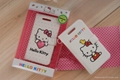 Leather left and right open Hello Kitty case iPhone  4 4S cases