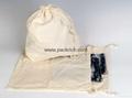 Black Cotton Laundry Bag: Deluxe Black Travel Suit Carrier Bag