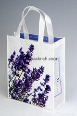 Fashion white laminated non woven shopping bags