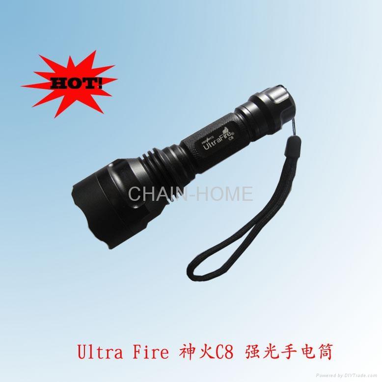C8 CREE Q5 aluminum flashlight 1