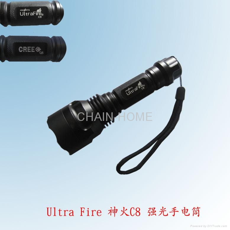 C8 CREE Q5 aluminum flashlight 2