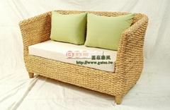 Villa简约时尚风格双人藤沙发