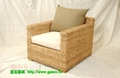 Simple style single-seater rattan sofa