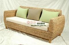Three seagrass personality style sofa