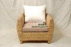 海草个性风格单人沙发