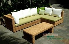 海草时尚简约风格L型沙发组