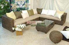 罗莎海草L型沙发