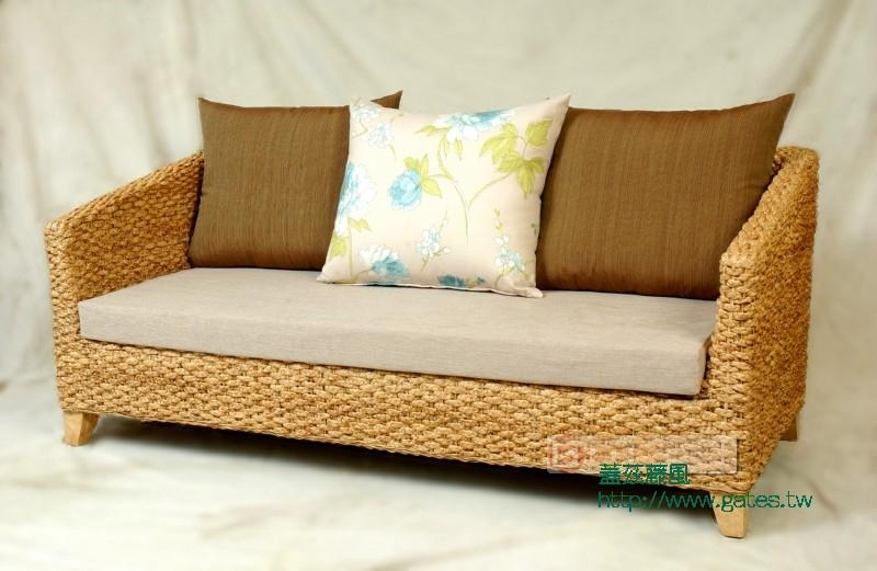 Nanyang Style Three Seat Sofa Rattan Seagrass Ttp 26a Taiwan Trading Company Living Room