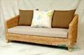 Nanyang style three-seat sofa rattan